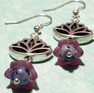 NEW Handmade Lotus Earrings